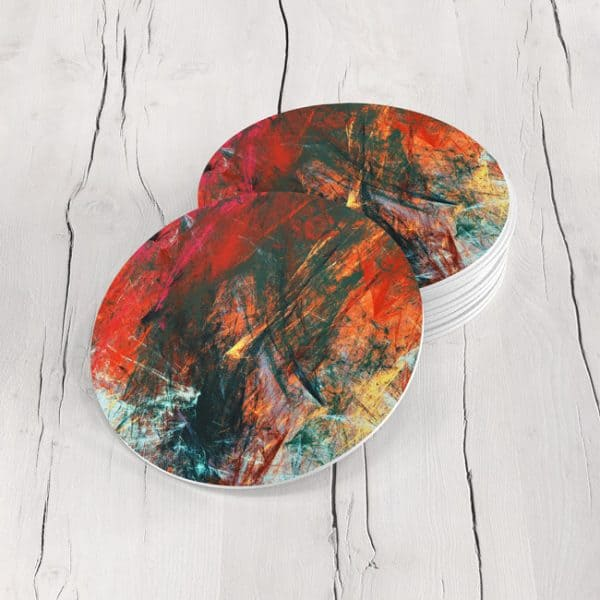 Porta Vasos Redondo Abstracto 253