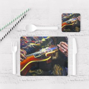 Individuales De Mesa Modernos para Comedor Guitarra 06