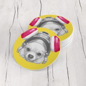 Porta Vasos Redondo Perro 112