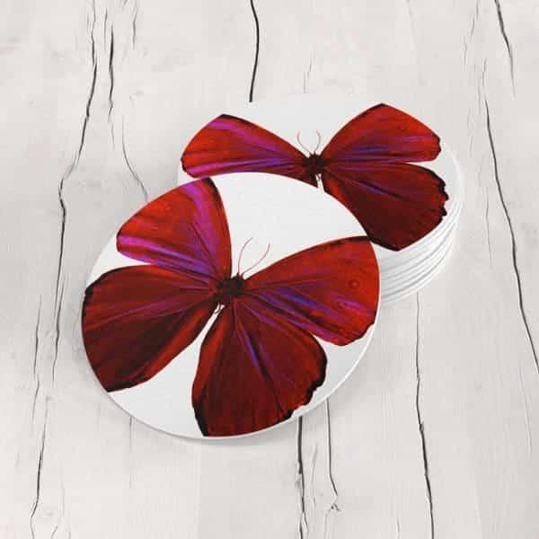 Porta Vasos Redondo Mariposa 29