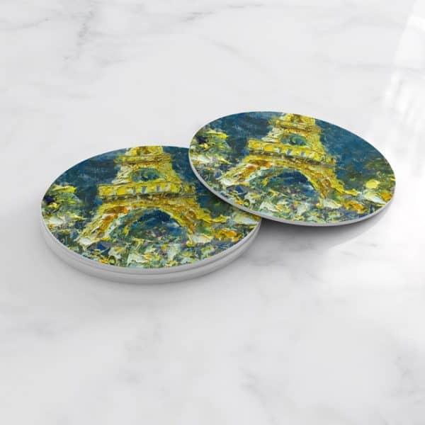 Porta Vasos Redondo Pintura Paris 25