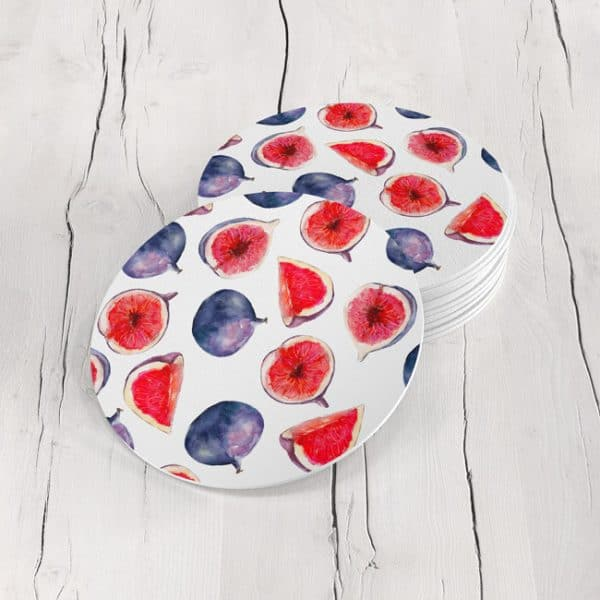 Porta Vasos Redondo Fruta Tropical 01