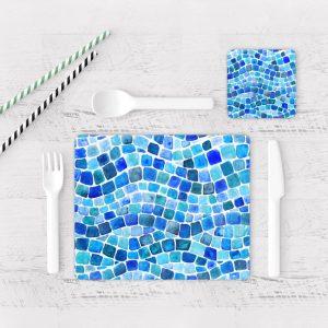 Individuales De Mesa Modernos para Comedor Azulejo 01