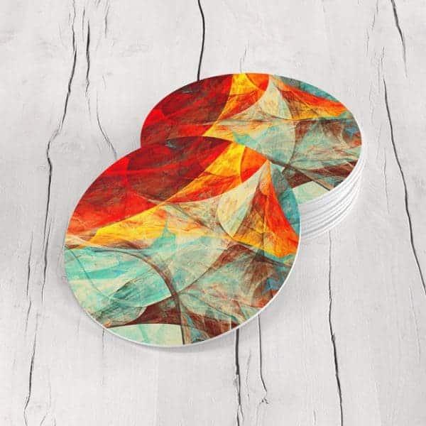 Porta Vasos Redondo Abstracto 241