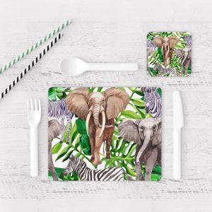 Individuales De Mesa Modernos para Comedor Elefante 26