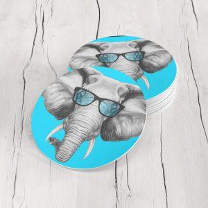 Porta Vasos Redondo Elefante 01