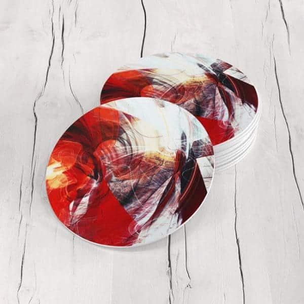 Porta Vasos Redondo Abstracto 293
