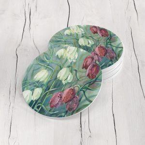 Porta Vasos Redondo Pintura Flores 132