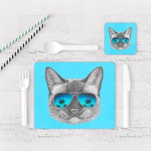 Individuales De Mesa Modernos para Comedor Gatos 59