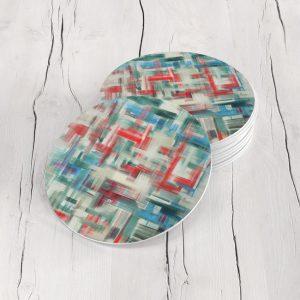 Porta Vasos Redondo Abstracto 311