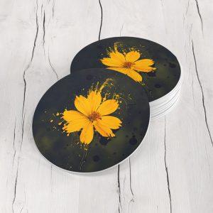 Porta Vasos Redondo Pintura Flores 122
