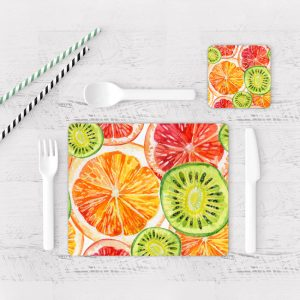 Individuales De Mesa Modernos para Comedor Naranjas 02