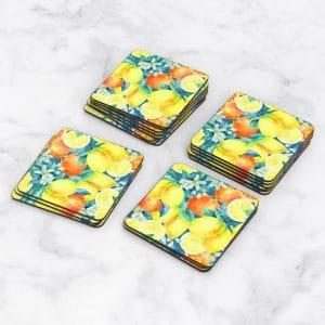 Porta Vasos Cuadrado Limones 06