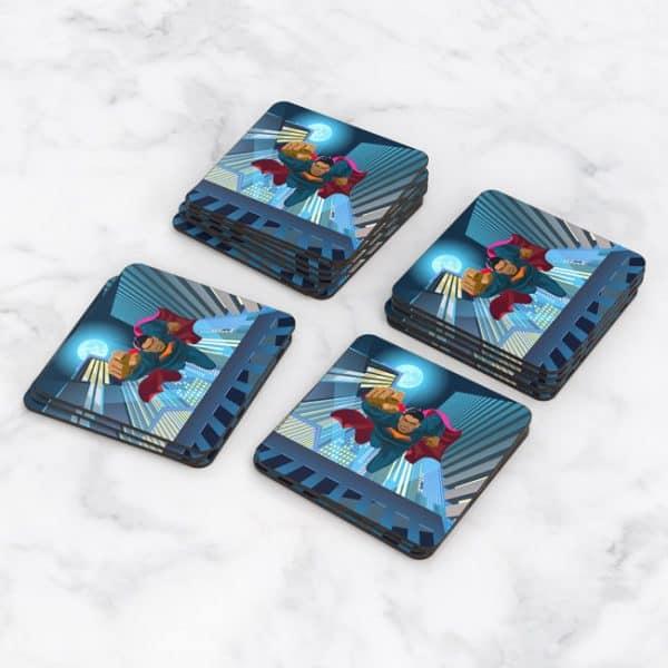 Porta Vasos Cuadrado Super Héroe 02
