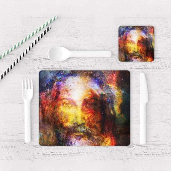 Individuales De Mesa Modernos para Comedor Jesús Cristo 07