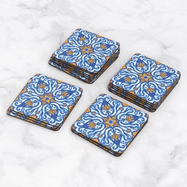 Porta Vasos Cuadrado Azulejos Portugueses 20