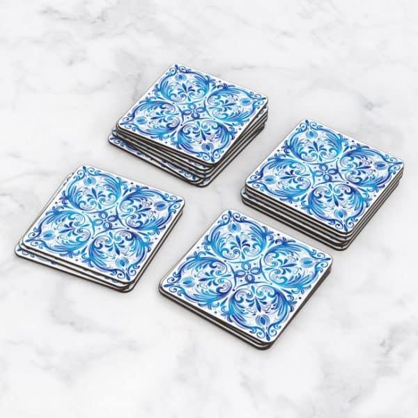 Porta Vasos Cuadrado Azulejos Portugueses 10