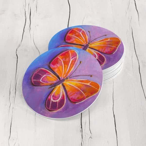 Porta Vasos Redondo Mariposa 68