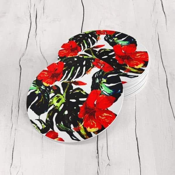 Porta Vasos Redondo Flores 147