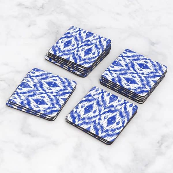 Porta Vasos Cuadrado Figura Geométrica Azul 02