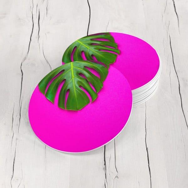 Porta Vasos Redondo Hoja Tropical 09