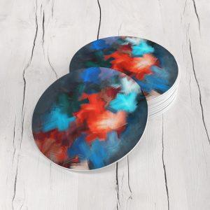 Porta Vasos Redondo Abstracto 303