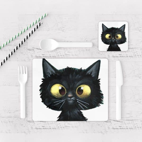 Individuales De Mesa Modernos para Comedor Gatos 109