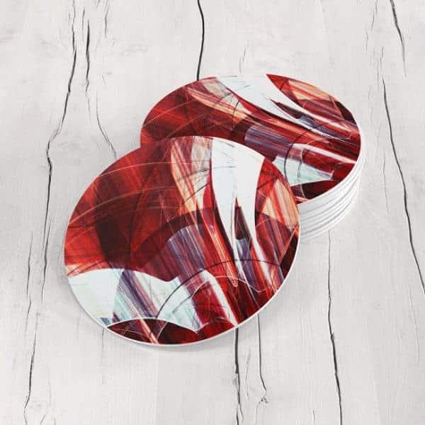 Porta Vasos Redondo Abstracto 256