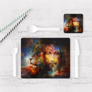 Individuales De Mesa Modernos para Comedor Jesús Cristo 08