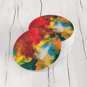 Porta Vasos Redondo Pintura Abstracta 96