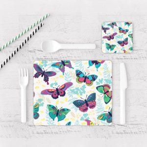Individuales De Mesa Modernos para Comedor Mariposa 37