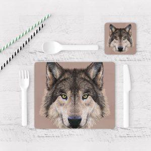 Individuales De Mesa Modernos para Comedor Lobo 07
