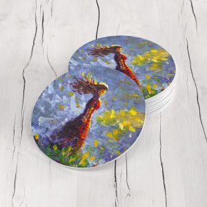 Porta Vasos Redondo Pintura Mujer 14