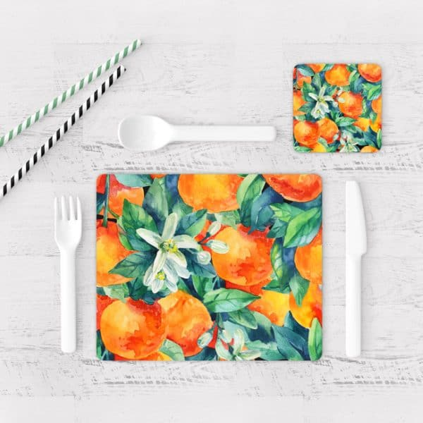 Individuales De Mesa Modernos para Comedor Naranjas 03