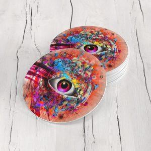 Porta Vasos Redondo Ojos Colores 04