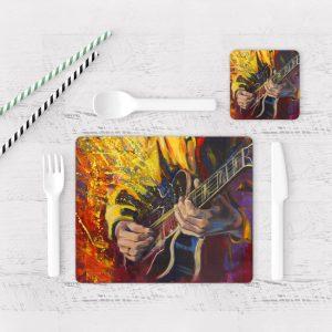 Individuales De Mesa Modernos para Comedor Guitarra 05