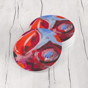 Porta Vasos Redondo Pintura Abstracta 113