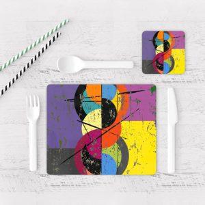 Individuales De Mesa Modernos para Comedor Abstracto 83