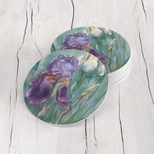 Porta Vasos Redondo Pintura Flores 128