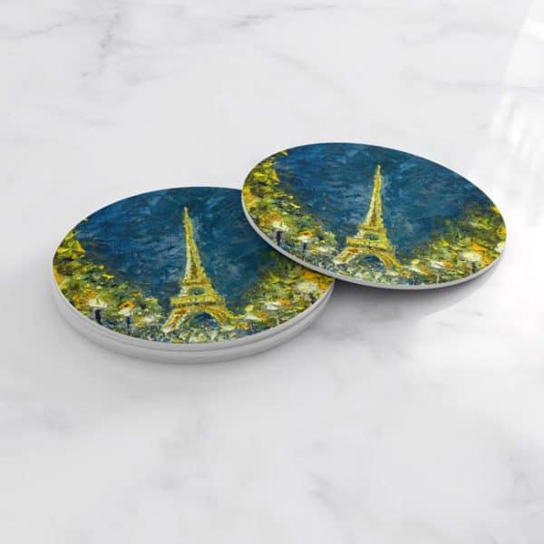 Porta Vasos Redondo Pintura Paris 24