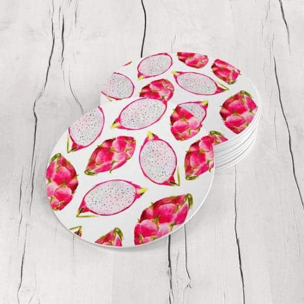 Porta Vasos Redondo Fruta Tropical 03