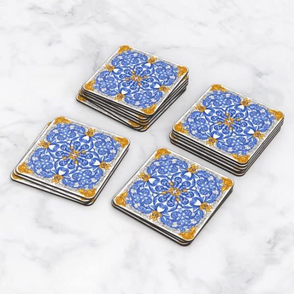 Porta Vasos Cuadrado Azulejos Portugueses 15