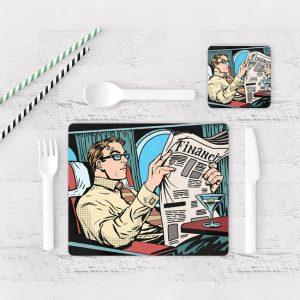 Individuales De Mesa Modernos para Comedor Comic 27
