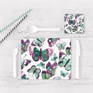 Individuales De Mesa Modernos para Comedor Mariposa 73