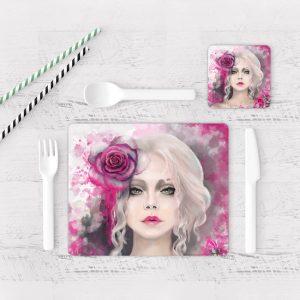 Individuales De Mesa Modernos para Comedor Cara Mujer Art 51