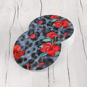 Porta Vasos Redondo Flores 177
