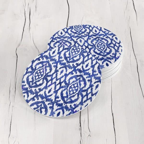 Porta Vasos Redondo Figura Geométrica Azul 05