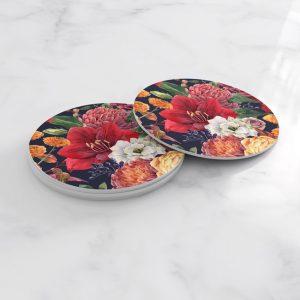 Porta Vasos Redondo Pintura Flores 89