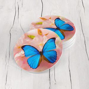 Porta Vasos Redondo Mariposa 27