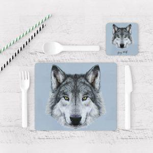 Individuales De Mesa Modernos para Comedor Lobo 08